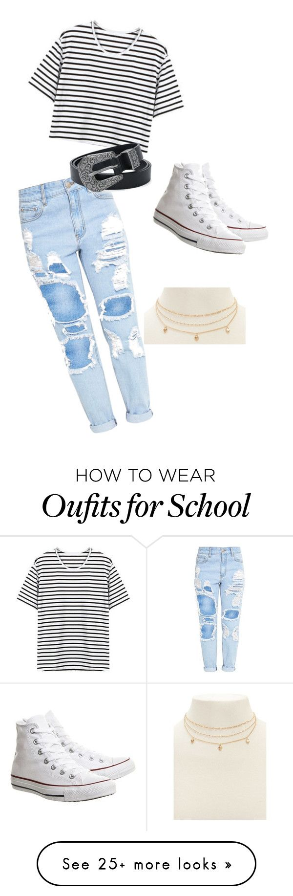 """School casual"" by caitlynmsteiner on Polyvore featuring Converse and Forever 21"