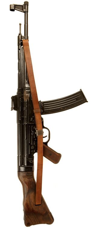 German StG 44, circa. 1944. Considered to be the first assault rifle. AK 47 is only a good copy from StG 44😱