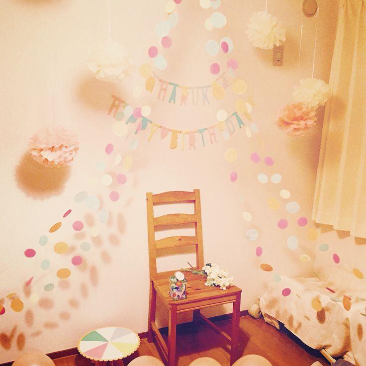 #1歳バースデー#1歳バースデー飾り付け#手作り#1birthday#birthday
