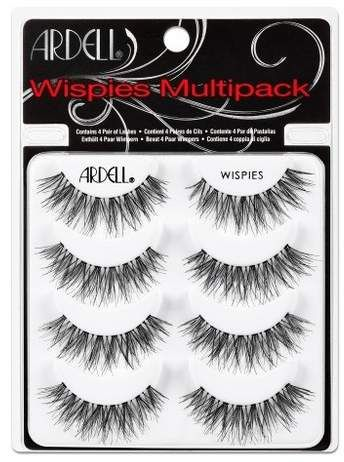 If you're looking to add a bit of glam to your peepers, the Ardell Eyelash Wispies Multipack Black 4pr is the ultimate way to go. These fluttery false eyelashes pump up the volume on your existing lashes for a dramatic, bold look you'll never want to take off. Easily applied with Ardell-brand adhesive for beautiful results. Contains 4 pairs of temporary, reusable lashes.   #beauty #eyelashes #lashes #ardell #ad
