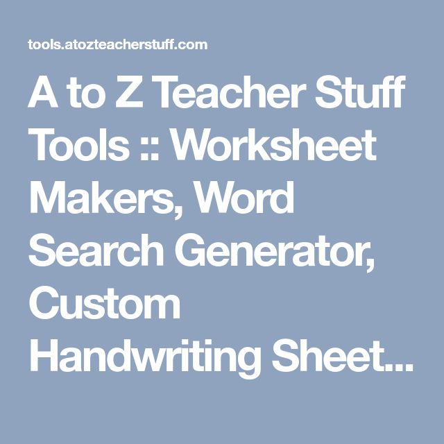 Generate Maths Worksheets. Math Worksheet Site Create Free Math ...