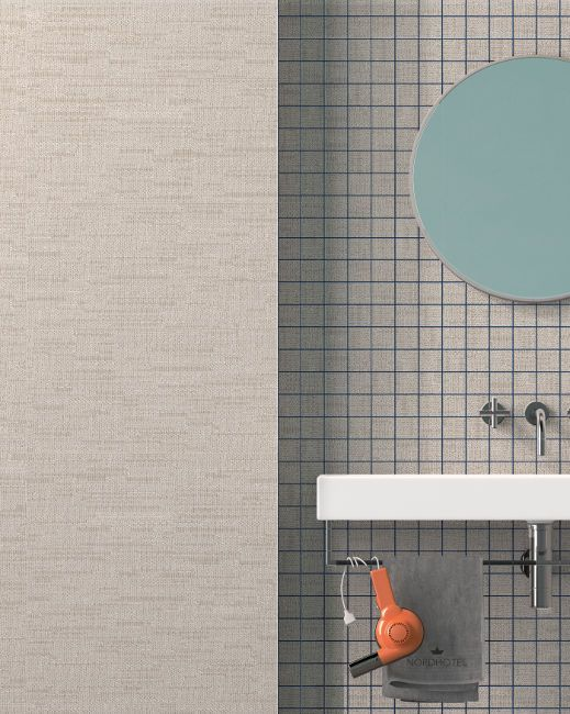 Visual sequences, laying #patterns and lines of #material  #CeramicaSantAgostino #ceramic #interiors  #design #interiordesign #designtiles #wall #fabric