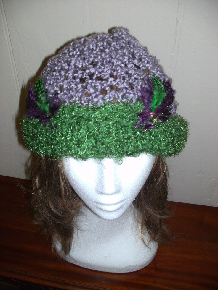 GREENSLEAVES SNUG with feather trim. $29.90, via Etsy.