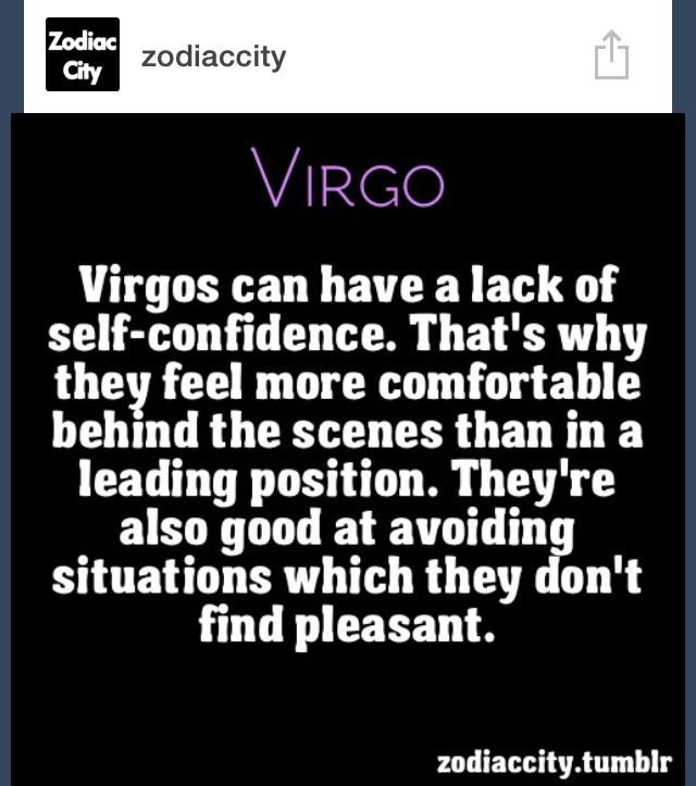 ... Quote About Virgo Virgo Lack of Self Confidence ...
