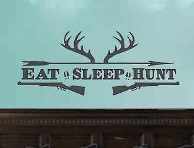 Eat Sleep Hunt Deer Antler Shotguns - Hunting Man Cave
