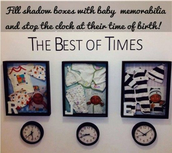 The best of times Baby Memorabilia & sooooo many other picture display ideas!!