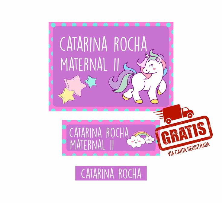 Resultado de imagem para etiquetas escolares personalizadas gratis para imprimir unicornio
