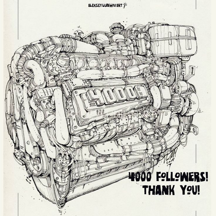 For insta. Author Aleksey Lubimov. #алексейлюбимовбиомеханика #алексейлюбимов #стимпанк #дизельпанк #биомеханика #marchofrobots #steampunk #dieselpunk #alekseylubimov_art #biomechanical #lineart #engine