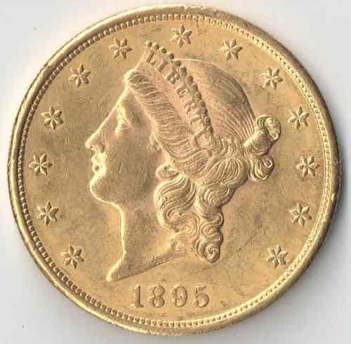 Usa 20 Dollars 1895 Ouro Moedas E Notas Pinterest