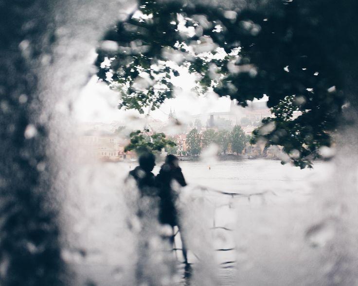 rain is hidding Prague´s castle