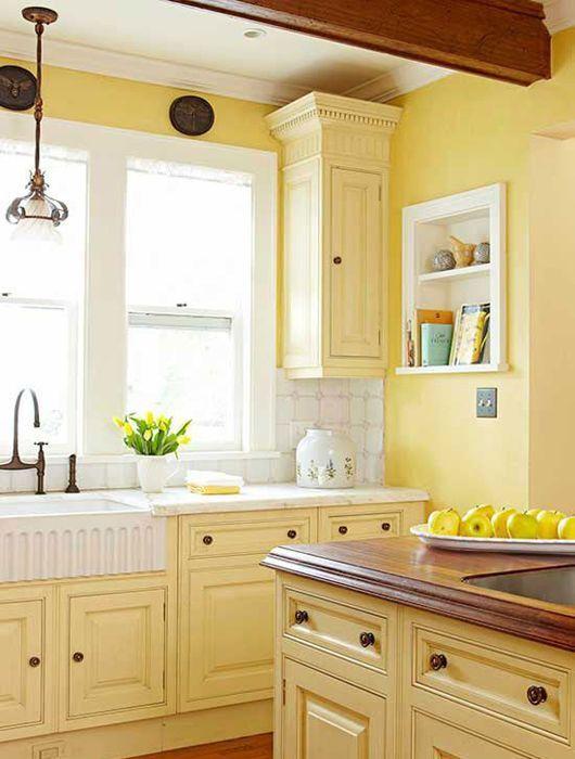 Les Meilleures Idées De La Catégorie Cuisines Jaune Pâle Sur - Meuble de cuisine jaune pour idees de deco de cuisine