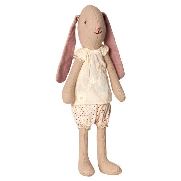 A lovely little bunny, designed by Maileg, with long pink ears, perfect for a little girl.