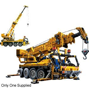 Lego Technic: Crane Truck  Build this huge crane truck featuring motorised telescopic boom, that extends to nearly  http://www.comparestoreprices.co.uk/lego/lego-technic-crane-truck.asp