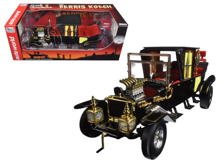 "George Barris Munsters Koach 1/18 Diecast Model Car by Autoworld - Brand new 1:18 scale diecast model of George Barris Munster Koach die cast model car by Autoworld. In 1928 George Barris and his older brother Sam moved to Roseville, California and the two started creating. ""Barris Brothers"" custom cars. Barris (TM ) passion and business expanded over the years, garnered the attention of. Hollywood, and this led to customizing cars for movies, television, and personal cars for the stars of…"