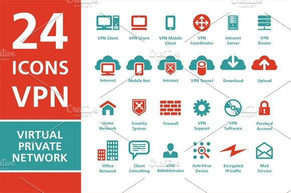 24 icons VPN Virtual Private Network #icons