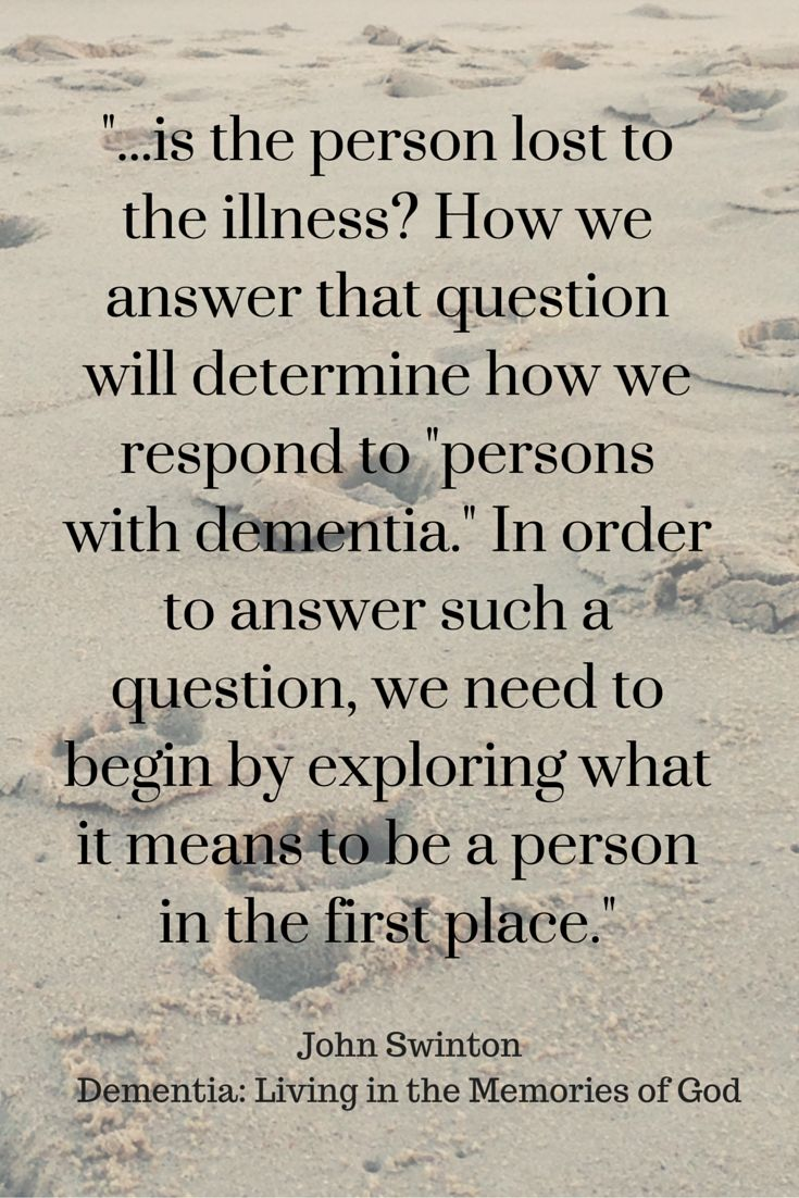 What does it mean to be a person? #understandingdementia