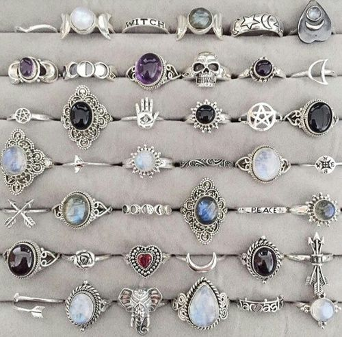 rings, grunge, and accessories image