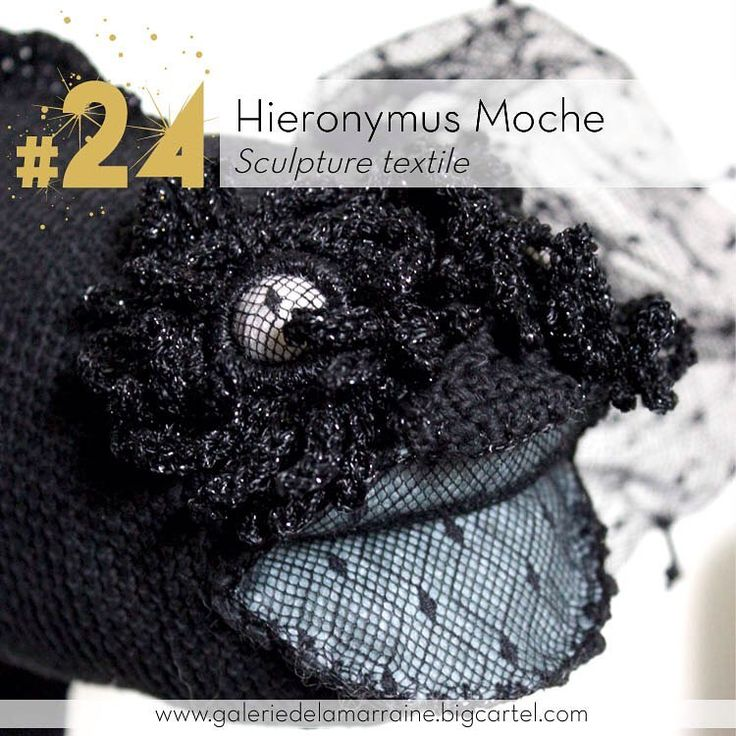 """Après le """"Bilboschet"""", un autre hommage à Jérôme Bosch, autant dans le titre que dans la sculpture elle même: voici le Hieronymus Moche de Olivia Ferrand.  @oliviametlesouk #sculpturetextile #chimere #monstre #24 #galeriedelamarraine #lagaleriedelamarraine"""