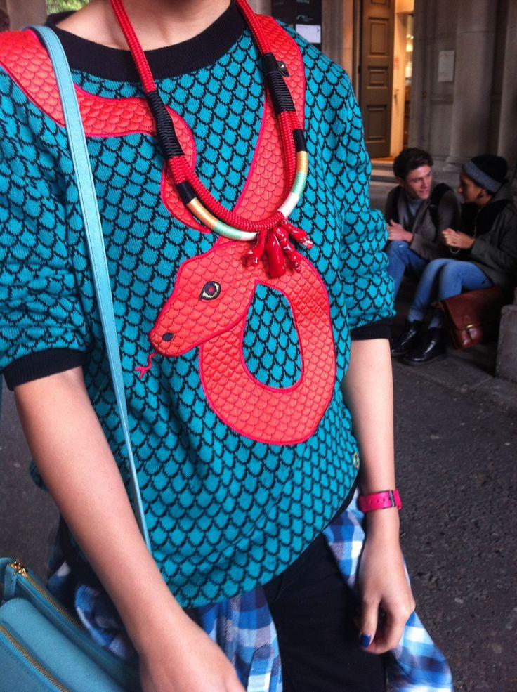 #streetstyle #snake #colour #lfw