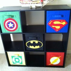 Superhero baskets...all you need is felt and a little hot glue
