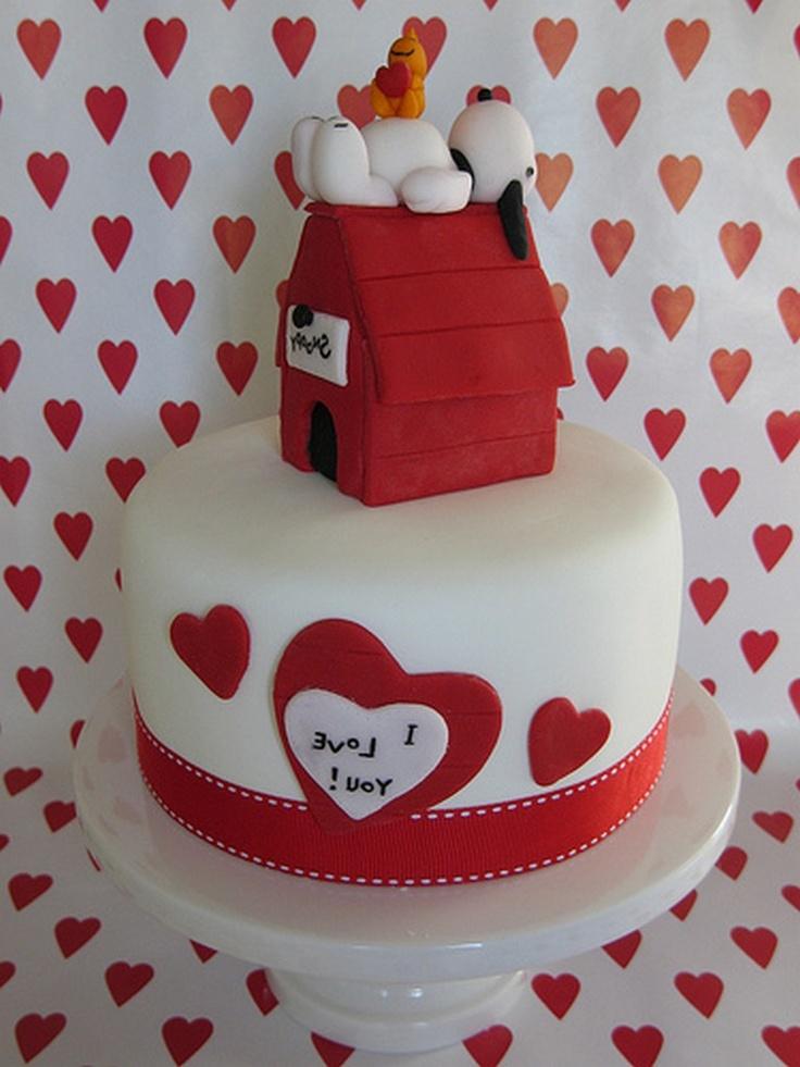 Snoopy Valentines Day Cakes Valentine Cakes Cupcakes