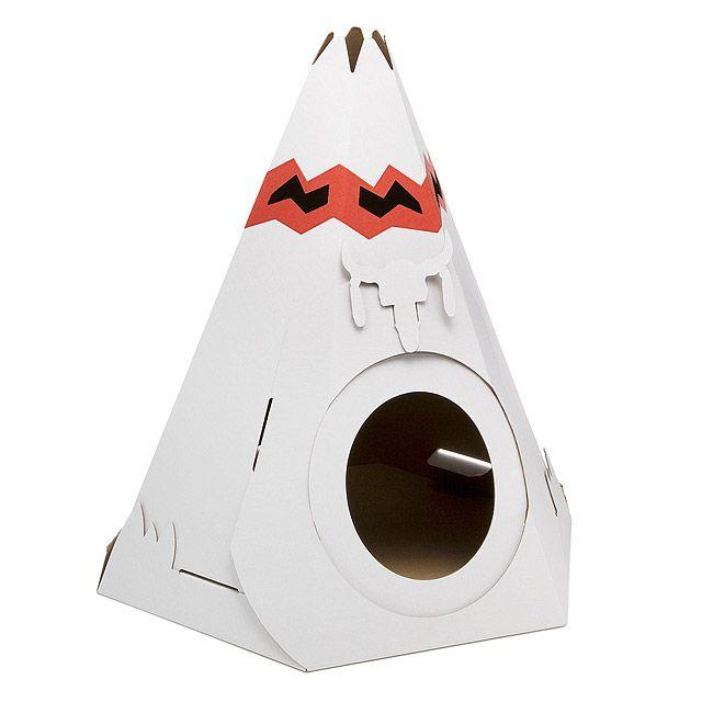 Cardboard Cat Teepee 1