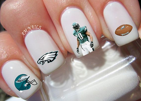 Philadelphia Eagles Nail Decals by AMnails on Etsy