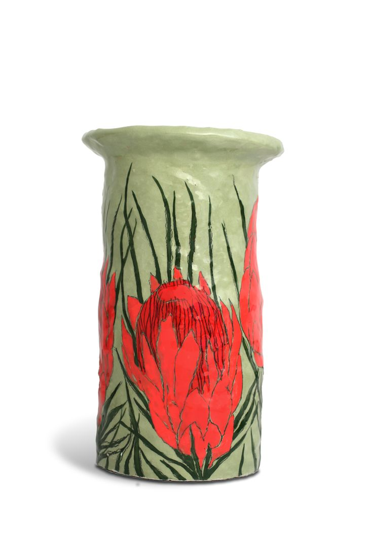 Gemma Orkin. Ceramic pot with flower design