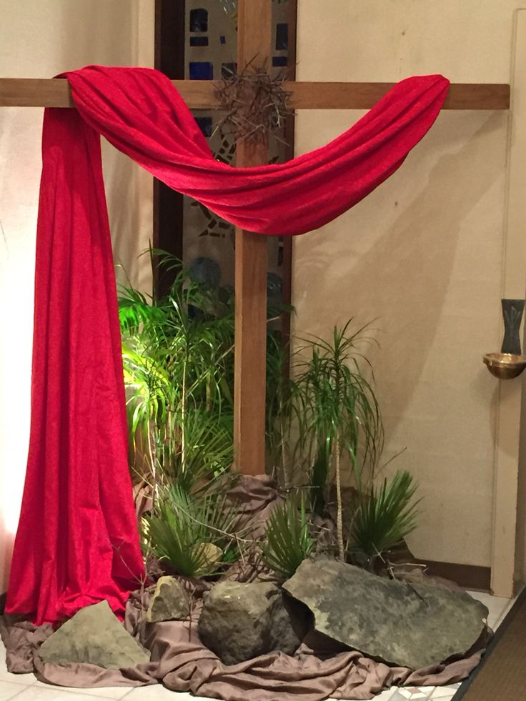 Palm Sunday cross at Holy Rosary in Steubenville.