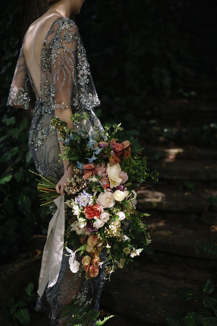 This wedding bouquet seems straight out of a dutch painting.