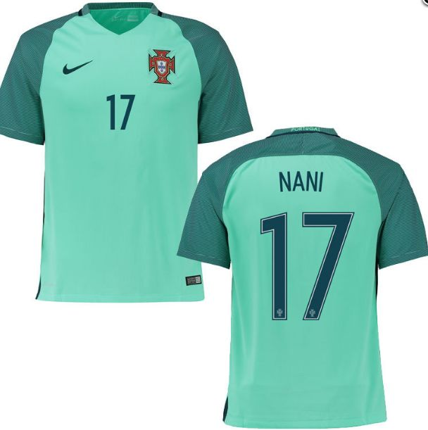 """New Nani #17 Portugal Shirt Away 2016/17 Soccer Football Jersey: 100% Brand New High Quality Size Measurement S: Width - 20""""… #OnlineMarket"""