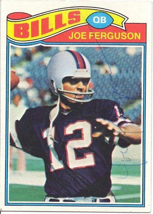 Joe Ferguson Buffalo Bills / Arkansas Personally Autographed card http://clektr.com/bBHH