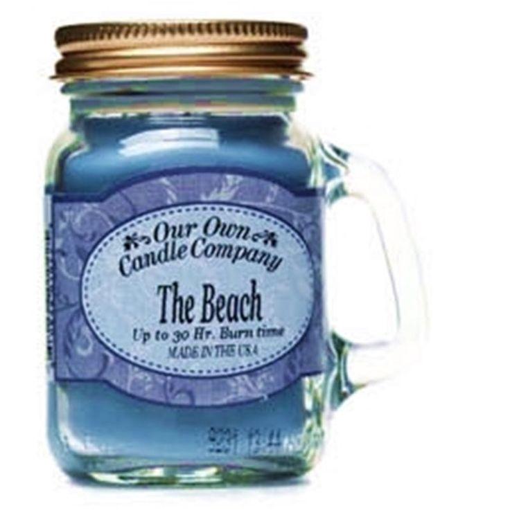 The BEACH Soy Candle super cute mini Mason Jar fresh for your Home & Garden