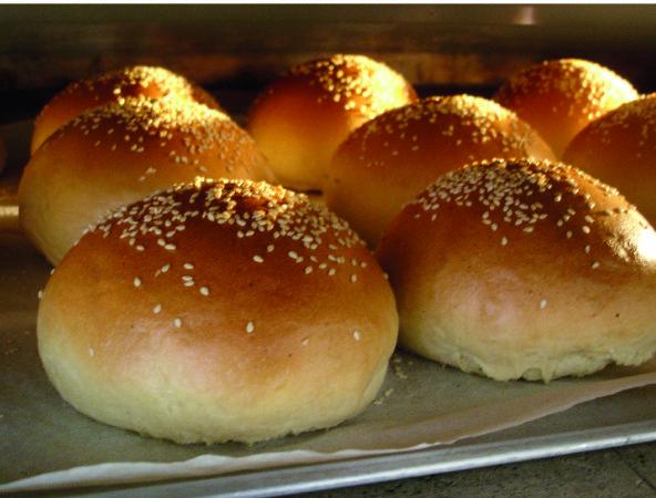 Receita de Mini Pão de Hambúrguer
