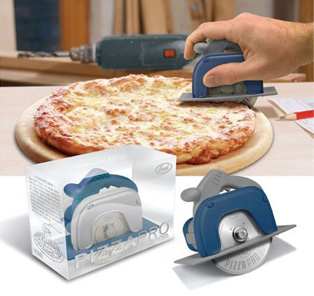 This has to be the COOLEST pizza slicer for a guy to ever have!!! It's only about $15 so...I'm thinking it would be great for guy gifts for birthdays or Christmas. :p