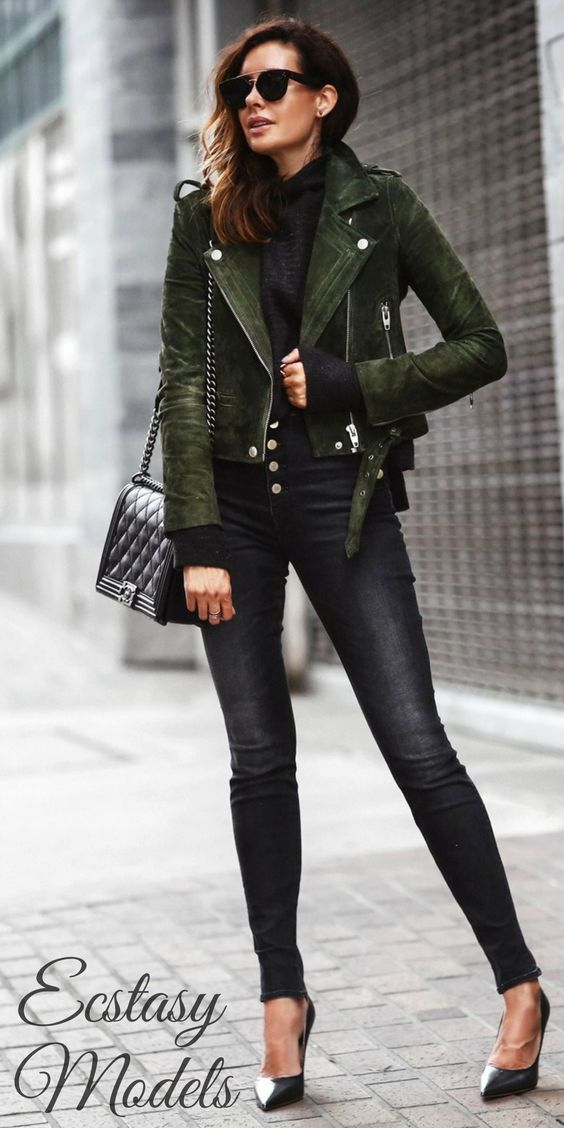 Fall Textures: Suede and Sweater // Fashion Look by Fashioned Chic