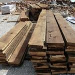 The old lumber from the 1880's building in McMinville.