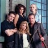Still of Mandy Patinkin, Jasmine Guy, Callum Blue, Laura Harris and Ellen Muth in Dead Like Me