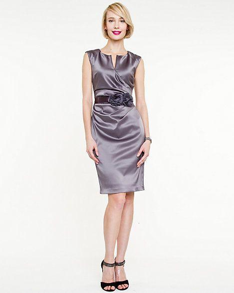 Satin V-neck Dress