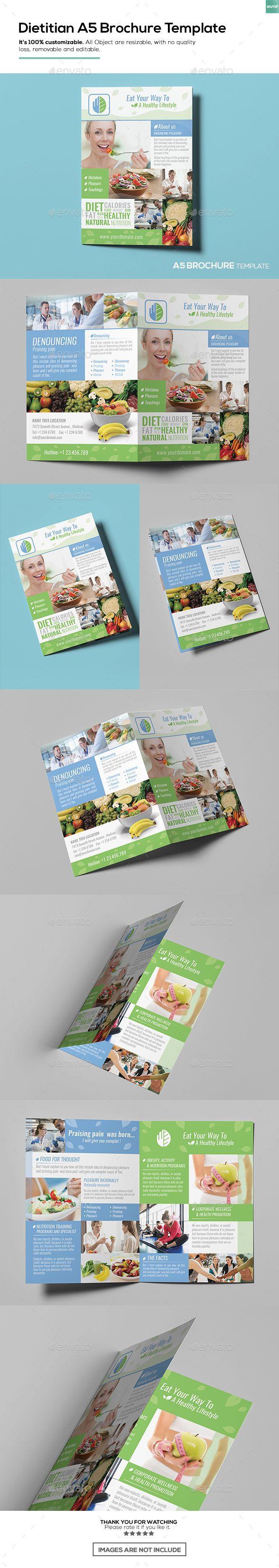 dietitian a5 brochure template