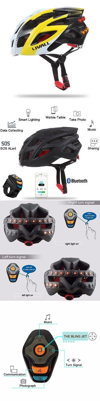 Helmet Accessories 177865: Bluetooth Smart Bike Helmet Led Tail Light Phone Call Music Player Yellow BUY IT NOW ONLY: $165.95