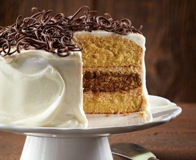 Tiramisu Layer Cake with Tre Stelle® Mascarpone #dessert #cake #recipe
