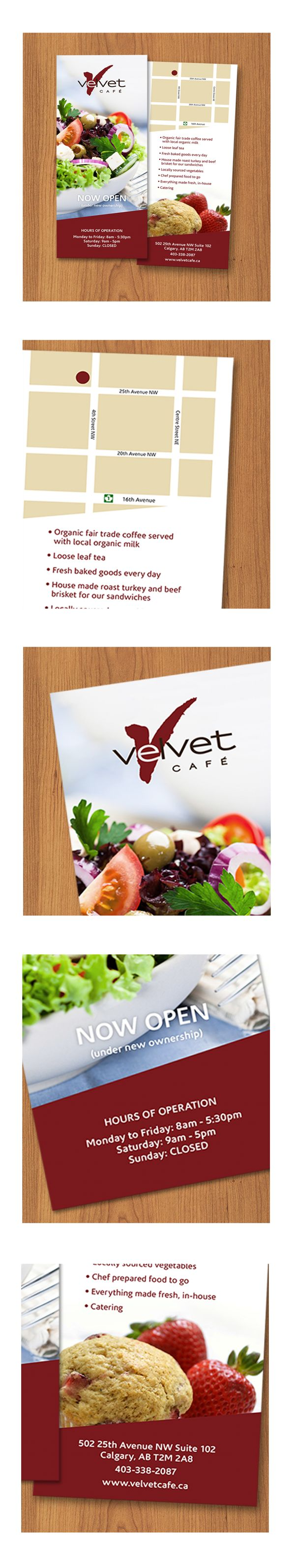 Cafe rack card
