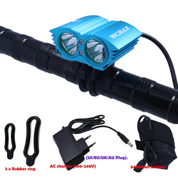 A21 5000 Lumen Waterdicht 2 * XML U2 LED Fiets Licht fiets Licht Lamp + Batterij + Lader 4 Schakelaar modi