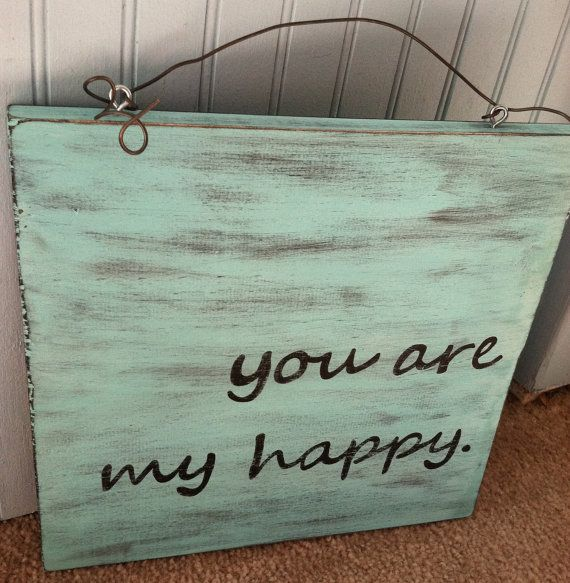 Hand Painted Happy Sign by signs of happiness on Etsy, $24.00