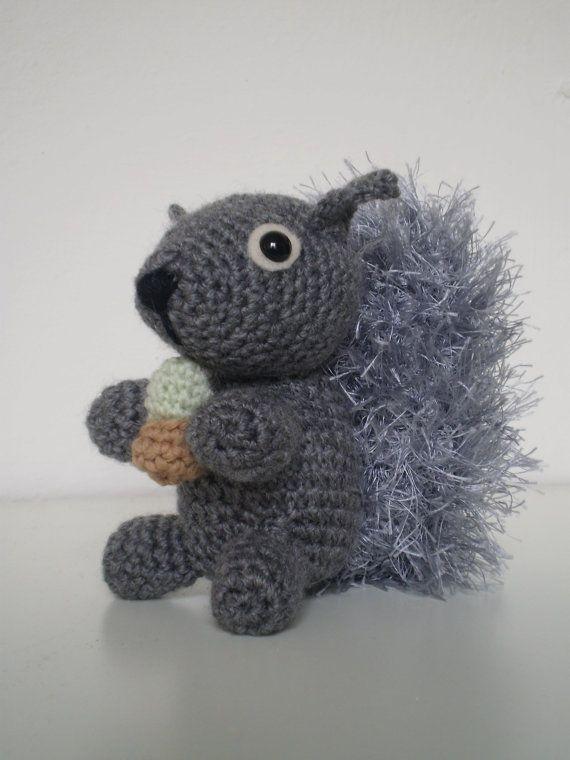 Sylvester the squirrel amigurumi doll