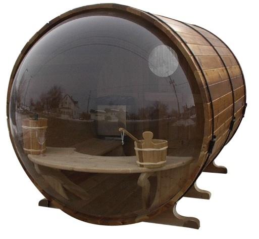 Scenicview barrel saunas back view saunas hot tubs for Kit sauna exterieur