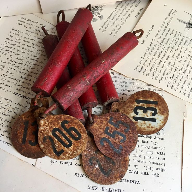 5 Vintage Hasco Cattle Tags - livestock- ear tag- cow chain- goat-pig-lamb- milk bucket by OffTheDirtRoad on Etsy https://www.etsy.com/listing/534149633/5-vintage-hasco-cattle-tags-livestock