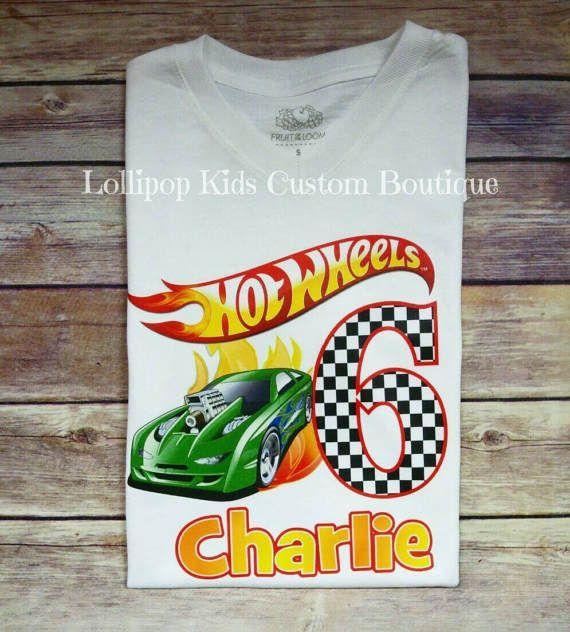 Camiseta De Cumplea 241 Os De Hot Wheels Cumple Auto