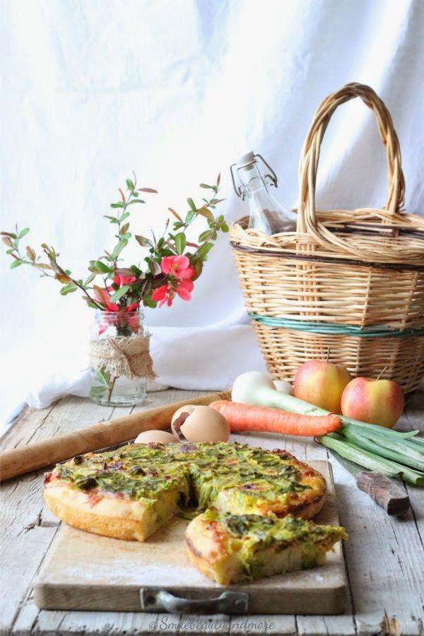 Focaccia rustica agli asparagi
